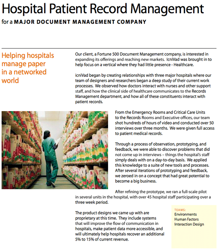 Hospital Records Management Systems for Pitney Bowes