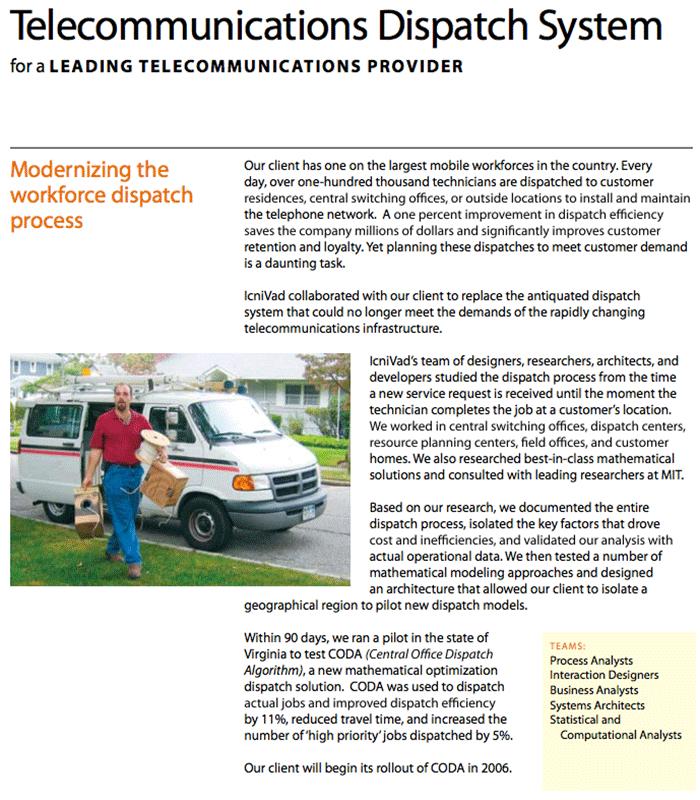 Verizon Telecommunications Dispatch System